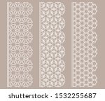 vector set of line borders with ... | Shutterstock .eps vector #1532255687
