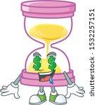 money eye sandglass isolated... | Shutterstock .eps vector #1532257151