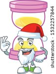 santa sandglass isolated with... | Shutterstock .eps vector #1532257844