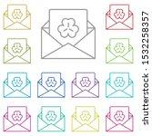 envelope  letter  trefoil multi ...