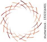 abstract spiral  twist. radial... | Shutterstock .eps vector #1532316401