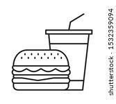 hamburger and soda takeaway ...   Shutterstock .eps vector #1532359094