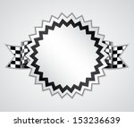 badge with checkered flag. race ... | Shutterstock .eps vector #153236639