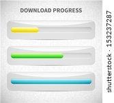 download progress bar. vector...   Shutterstock .eps vector #153237287