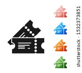 black cinema ticket icon... | Shutterstock .eps vector #1532373851