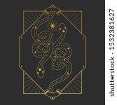 rectangular frame with stars... | Shutterstock .eps vector #1532381627