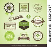 collection of fresh organic... | Shutterstock .eps vector #153240617