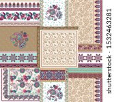 Patchwork Paisley And Border...