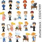 cartoon characters of different ... | Shutterstock .eps vector #153247499