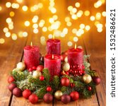 Burning Red Candles At...
