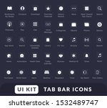 tab bar icon set. mobile app ui ...
