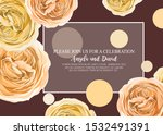 floral invitation with gentle... | Shutterstock .eps vector #1532491391