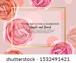 floral invitation with gentle... | Shutterstock .eps vector #1532491421