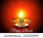 diwali background with flroal... | Shutterstock .eps vector #153250994