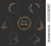 set of flower frames  vector ... | Shutterstock .eps vector #1532528387