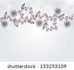 elegant floral invitation for... | Shutterstock .eps vector #153253109