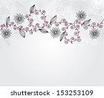elegant floral invitation for... | Shutterstock .eps vector #153253109