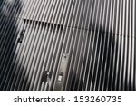 entrance door in a metal... | Shutterstock . vector #153260735