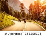 Group Of Motorcyclists Riding...