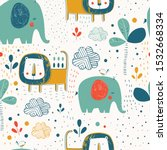 safari seamless pattern with... | Shutterstock .eps vector #1532668334