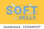 soft skills illustrated concept ... | Shutterstock .eps vector #1532669147