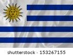 uruguay waving flag | Shutterstock . vector #153267155