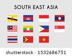 set of south east asia flag ... | Shutterstock .eps vector #1532686751