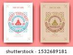 christmas card retro typography ... | Shutterstock .eps vector #1532689181