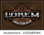 vintage logo template  western... | Shutterstock .eps vector #1532689364
