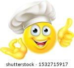 an emoji chef cook cartoon... | Shutterstock .eps vector #1532715917