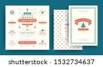 christmas labels and badges... | Shutterstock .eps vector #1532734637