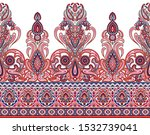 seamless asian textile floral... | Shutterstock . vector #1532739041