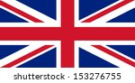 official uk flag of the united... | Shutterstock . vector #153276755