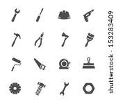 tools icons set | Shutterstock .eps vector #153283409