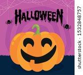 halloween party. pumpkin  bats... | Shutterstock .eps vector #1532848757