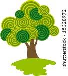 lollipop tree. vector.   Shutterstock .eps vector #15328972