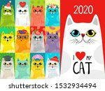 Calendar 2020 With Cute Cats....