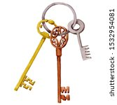 Bunch Of Old Vintage Keys....