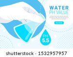 water ph value analysis concept.... | Shutterstock .eps vector #1532957957