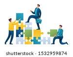 team of young entrepreneurs...   Shutterstock .eps vector #1532959874