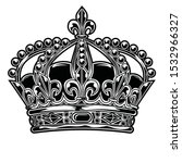 crown black and white king..... | Shutterstock .eps vector #1532966327