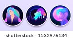 futuristic synth wave style.... | Shutterstock .eps vector #1532976134