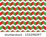 red and green zigzag pattern.... | Shutterstock .eps vector #153298397