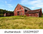 An Old Falling Down Barn In...