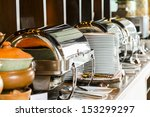 buffet heated trays ready for... | Shutterstock . vector #153299297