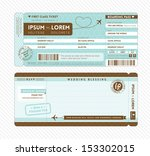 boarding pass ticket wedding... | Shutterstock .eps vector #153302015