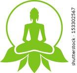 Buddha Sitting In A Lotus...