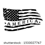 us flag   distressed american... | Shutterstock .eps vector #1533027767