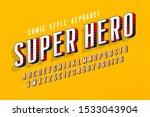 trendy 3d comical letters... | Shutterstock .eps vector #1533043904