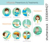 man with influenza preventions... | Shutterstock .eps vector #1533049427
